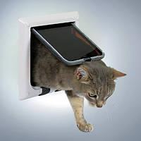Trixie TX-38621 дверца для кота 4-Way Cat Flap (21 × 21 см,4 магнита)