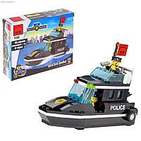 Конструктор Полицейский катер 95 деталей Brick 130 HN