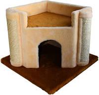 Когтеточка,дряпка Лори  Вежа дом-драпак для кота  44*44*36см (джут)