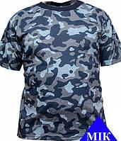 Футболка летняя камуфлированная, синий камуфляж
