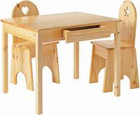 Комплект детской мебели деревянный ручной работы
