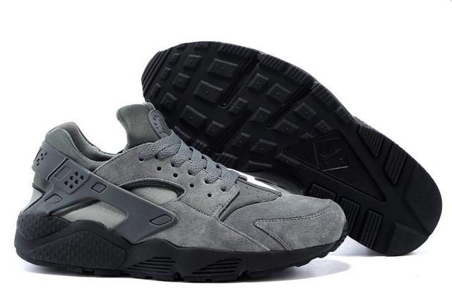 Кроссовки Nike Air Huarache Grey замшевые
