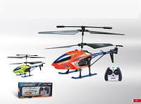 Вертолет аккум р/у K008 с гироскопом, аккум. USB, метал. свет. 2 цв. 45,5*7,5*19