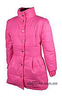 Куртка для девочек бант 6-10 лет малиновая, фото 1
