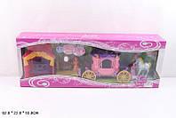 Герои Принцесса, лошадь, карета, трюмо, кровать SS007 в кор.62*22*10 см