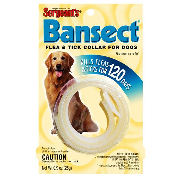 Sergeants Bansect БАНСЕКТ ошейник от блох и клещей для собак