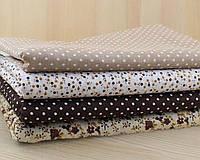 Набор ткани КОРИЧНЕВЫЙ (4 шт. 25х50 см), фото 1