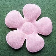 Аппликация пришивная. Розовый цветок