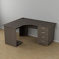 Угловой стол с ящиками 1500*1200*726h
