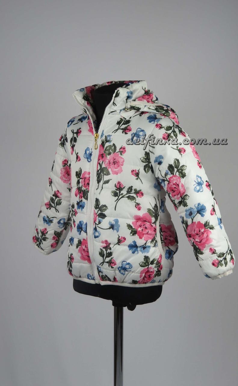 Куртка для девочек  3-6 лет цвет белый