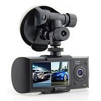 Видеорегистратор Car DVR R300 с двумя камерами, с модулем GPS и G-сенсором удара