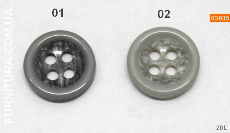 Пуговица рубашечная D14 (20L), фото 2