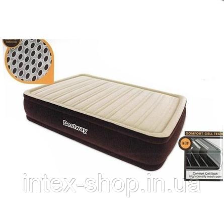 Bestway велюр-кровать 67494 (203*152*43,см) с встроенным насосом 220V, фото 2