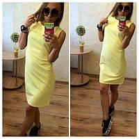 Платье футляр по колено без рукавов (3 цвета)