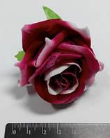 """Цветы декоративные """"Роза розовая с белым"""""""