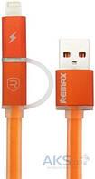 USB кабель REMAX Aurora Cable Lightning+micro-USB Orange