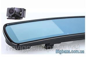 """Видеорегистратор в зеркале DV700, 2 камеры. Экран 4,3""""."""