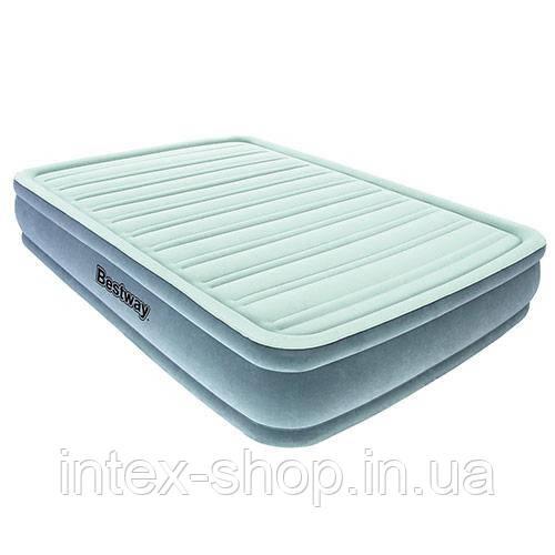 Bestway велюр-кровать 67530 (191*137*36,см) с встроенным насосом 220V