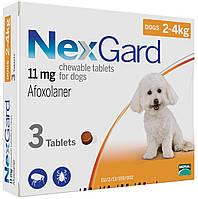 Таблетка от блох и клещей НЕКСГАРД для собак 2-4 кг, (S)