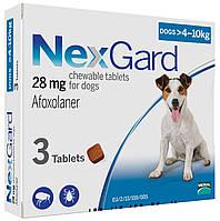 Таблетка от блох и клещей НЕКСГАРД для собак 4-10 кг, (M)