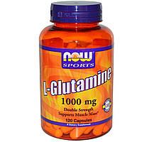 L-глутамин Двойная Сила, Now Foods, 1000 мг, 120 капсул. Сделано в США.