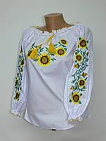 """Жіноча вишиванка """"Соняшники"""" різні розміри ціна від виробника."""