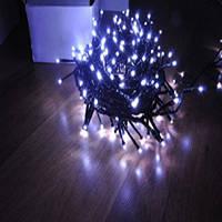 Светодиодная гирлянда STRING LIGHT LED-PL-200-20M-240V на белом ПВХ проводе.