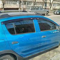 Ветровики (дефлекторы окон) на Рено Сандеро с 2013> (клей).