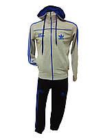 Мужской спортивный костюм Adidas на замке с капюшоном Турция