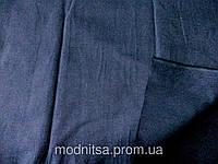Поплин - стрейч (синий) (арт. 12315) отрезы 0,5 + 1,0 + 0,89 м