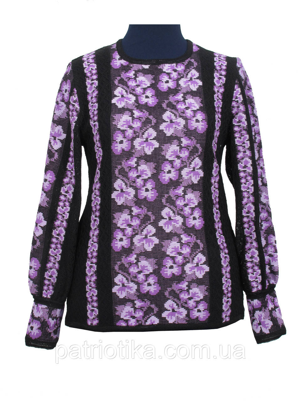 Женская вязанка Братцы фиолетовые х/б | Жіноча в'язанка Братики фіолетові х/б