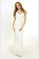 Свадебное платье-годе с гипюровой вставкой G0732 (р.44-48)
