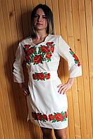 """Вышитое платье """"Маки"""" (001)"""