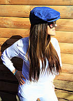 Дизайнерская джинсовая кепи синяя