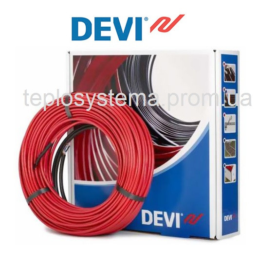 Теплый пол - Двухжильный нагревательный кабель DEVIflex 18T (DTIP 18T) 270 Вт - 15 m (Дания)