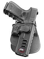 Кобура Fobus Glock 17 / 19 с креплением на ремень, замок на скобе