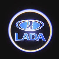 Подсветка дверей автомобиля, проекция логотипа Lada