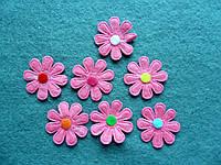 Аппликация пришивная. Розовый цветок из фетра
