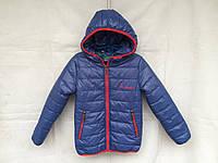 """Куртка подростковая демисезонная для девочка 8-12 лет,""""Columbia"""",темно синяя"""