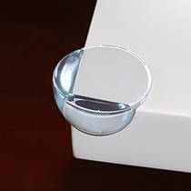 Защита на углы круглая силиконовая - большая. Прозрачный