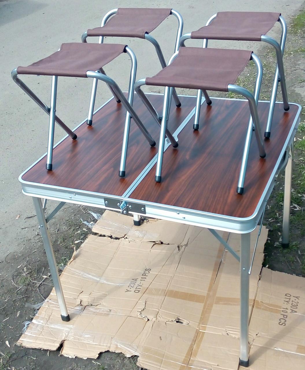 Набор мебели для пикника, стол-чемодан + 4 стула