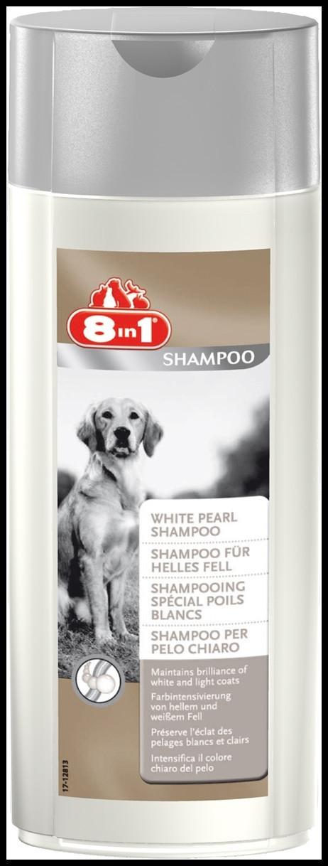 8in1 White Pearl Shampoo Шампунь для собак светлого окраса 250мл  (660230 /101680)