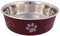Trixie TX-25245 миска металлическая на резине с пластиковым покрытием 2,2 л для собак крупных пород