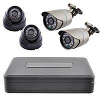 Комплект видеонаблюдения KS1104V (4 камеры)