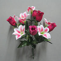 Роза лилия 626 букет искусственный