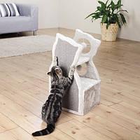 """Когтеточка,дряпка Trixie TX-43375 дом-драпак для кота """"Nelia"""" 61см,серый"""