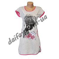 Женская котоновая ночная рубашка TL5 оптом со склада в Одессе.