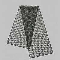 Шарф В 35ш ромб гипюр размер 25х110 см