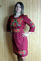 """Вышитое платье """"Маки"""" (003)"""