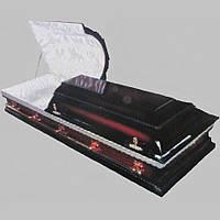 Саркофаг 2 крышки гроб лакированный 200х75 см